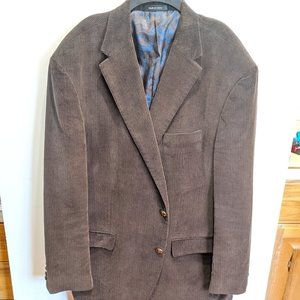 Mens Dark Brown Corduroy Blazer 48L Ralph Lauren